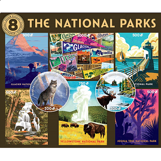 8 in 1 Multi-Piece Puzzle Set - The National Parks