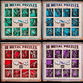 10 Metal Puzzles - Set of 4