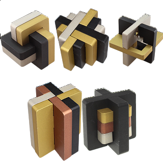Group Set - Set of 5 NEW Exclusive Puzzle Master Metal Puzzles