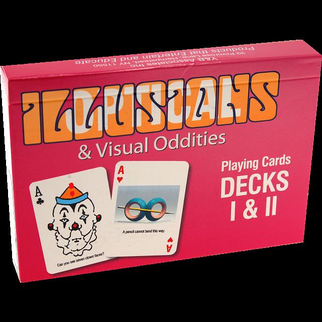 Optical Illusions & Visual Oddities Playing Cards - Decks I & II