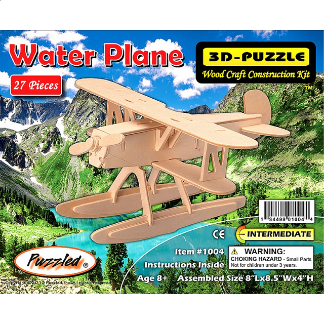 Water Plane - 3D Wooden Puzzle