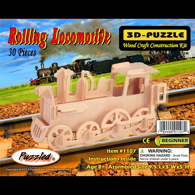 Rolling Locomotive - 3D Wooden Puzzle