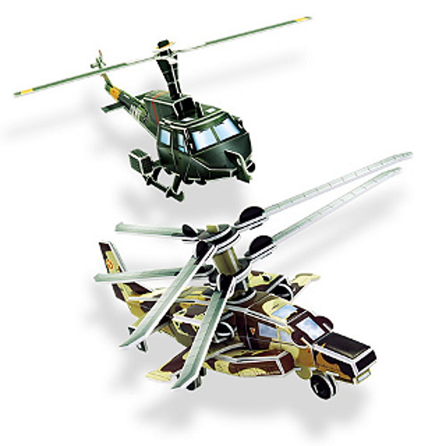 Military Helicopters - 3D Jigsaw Puzzle