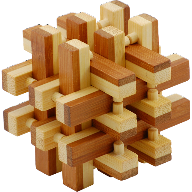bamboo wood puzzle