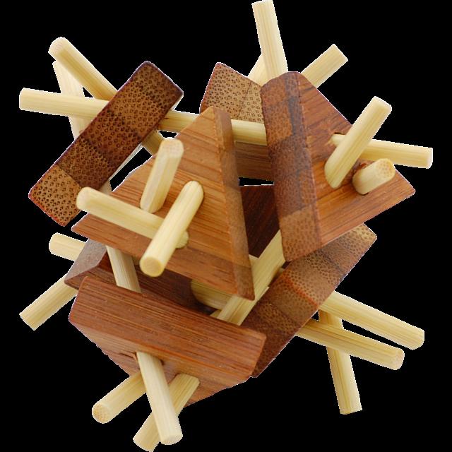 Bamboo Wood Puzzle 6 | Wood Puzzles | Puzzle Master Inc