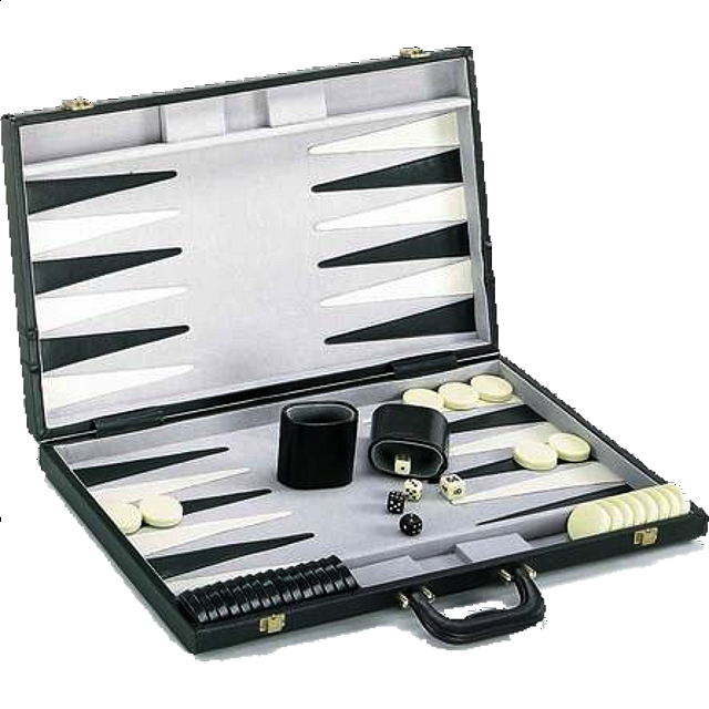21 inch Backgammon Set - Black and White