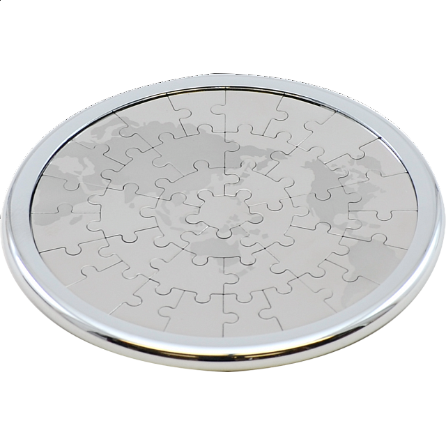 Coaster Puzzle - World Map - Magnetic