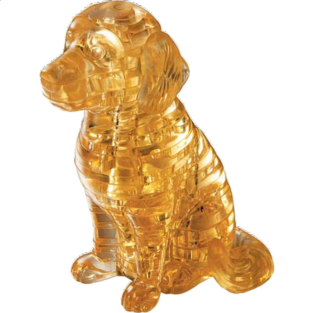 3d Crystal Puzzle - Puppy Dog