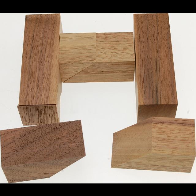 Half H Puzzle Wood Puzzles Puzzle Master Inc