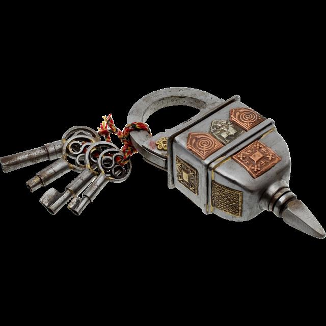 4 Key Puzzle Lock