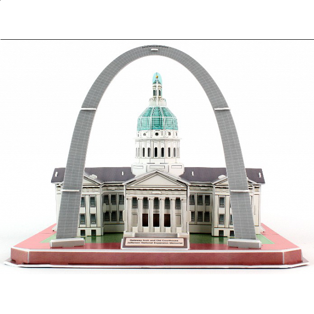 gateway-arch-old-courthouse-3d-jigsaw-puzzle