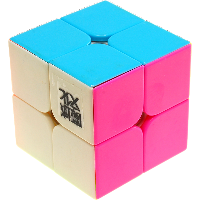 lingpo-2x2x2-stickerless-body-with-pink-for-speed-cubing