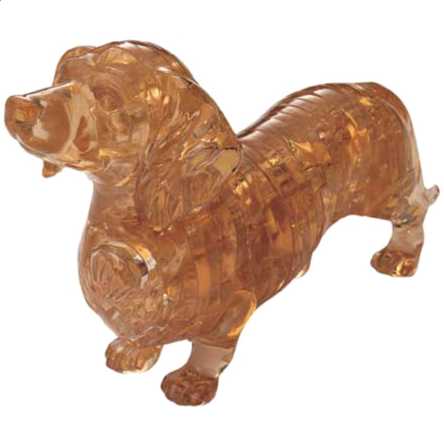 3d Crystal Puzzle Dachshund More Puzzles Puzzle Master Inc