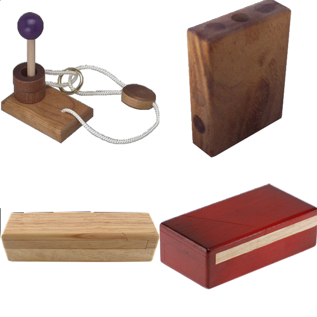 .level 5 And 6 - A Set Of 5 Wood Puzzles