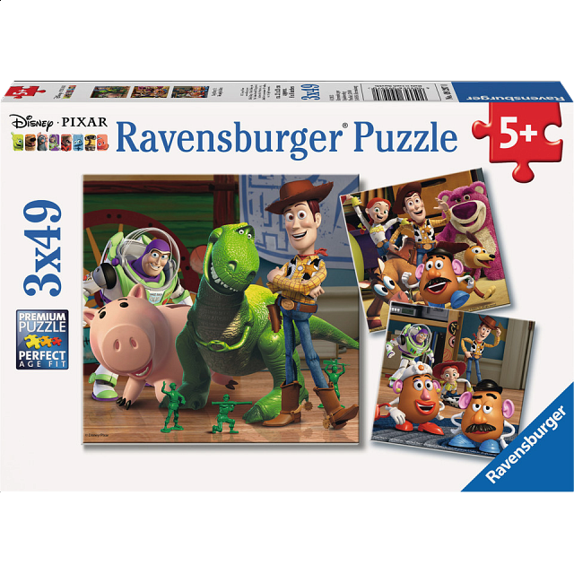 Toy Story 3: Woody & Rex - 3 x 49 piece puzzles
