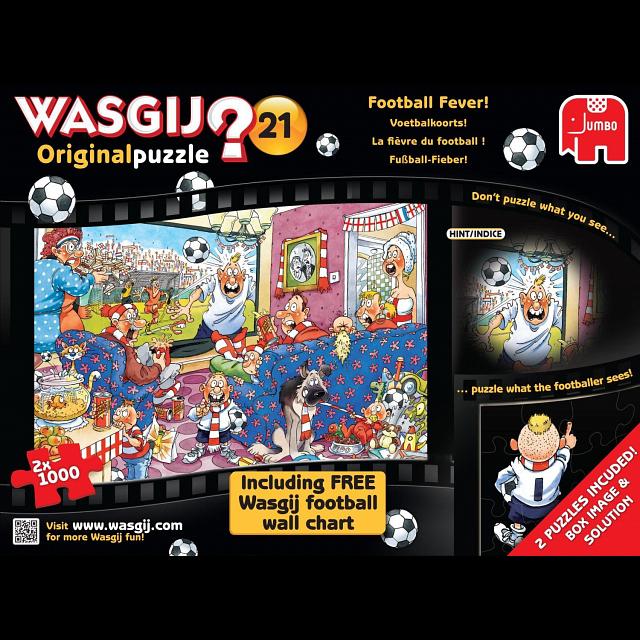 Wasgij Original #21: Football Fever - 2 x 1000 piece puzzles