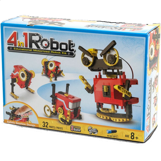 4-in-1 Educational Motorized Robot Kit