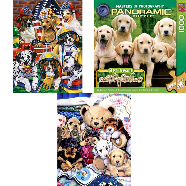 Jigsaw Puzzle Set - Dogs