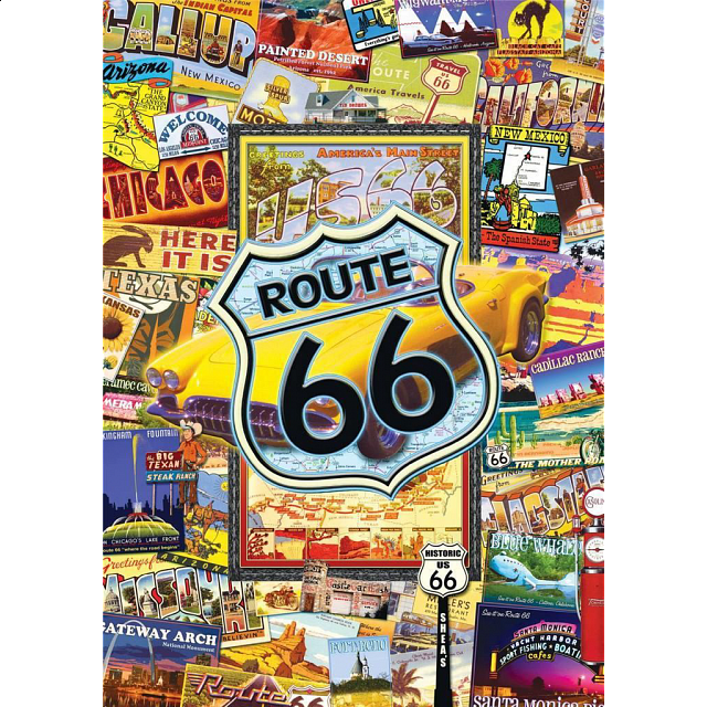 World's Smallest 1000 Piece - Route 66