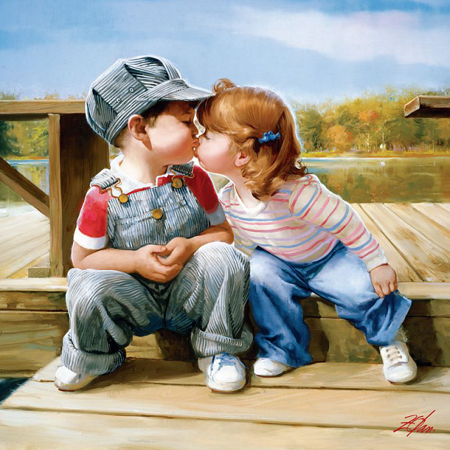 joys-of-childhood-first-kiss