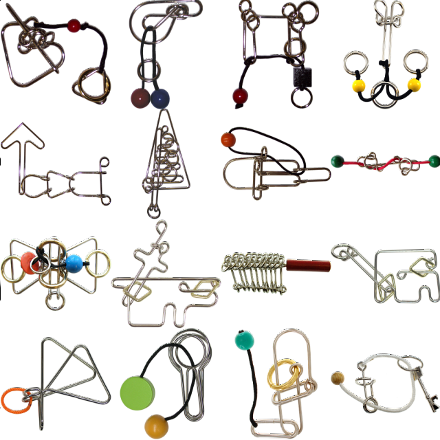 .Level 10 - a set of 16 wire puzzles