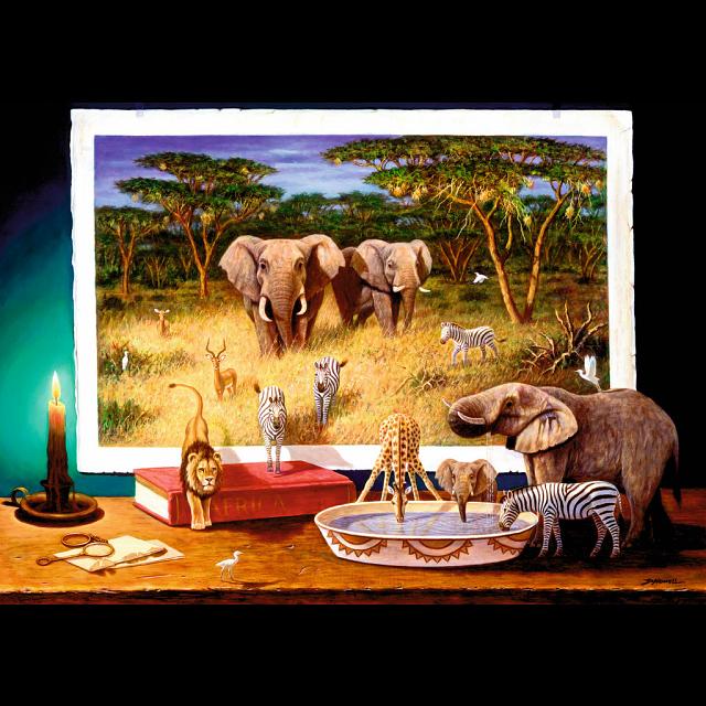 Ravensburger African Visitors at Night