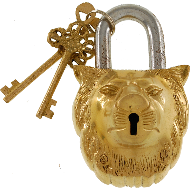 brass-lion-padlock-regular-lock