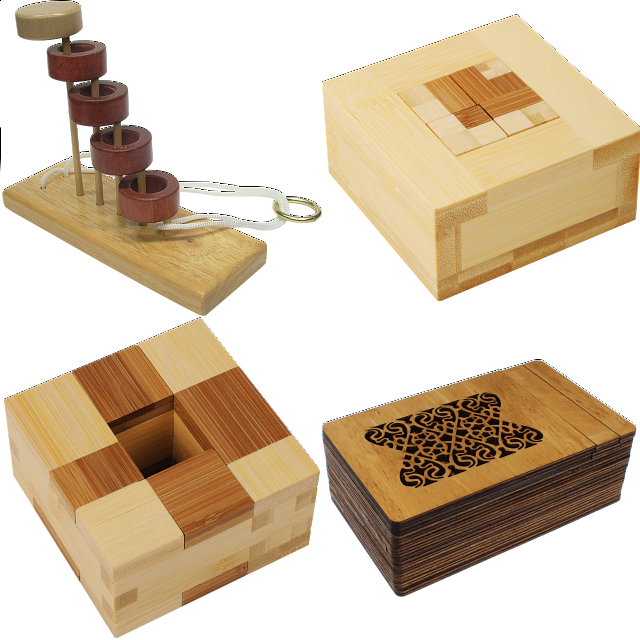 .level 10 - A Set Of 7 Wood Puzzles