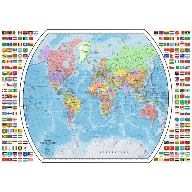 Political world map jigsaws puzzle master inc political world map gumiabroncs Image collections