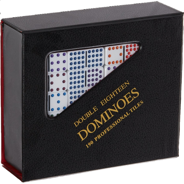 Mexican Train Domino Set - Double 18 (DOTS)