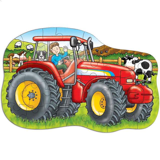 Big Tractor - Shaped Floor Puzzle