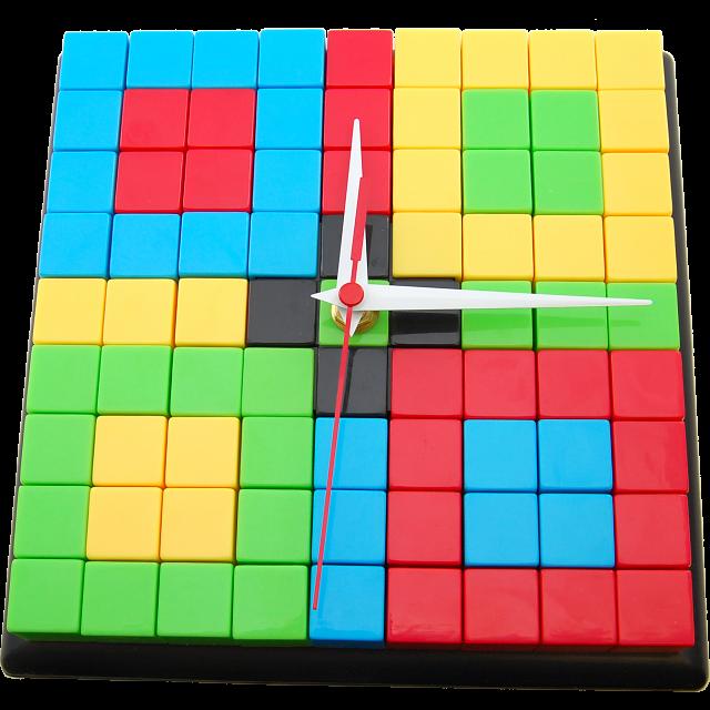 puzzle-clock-black