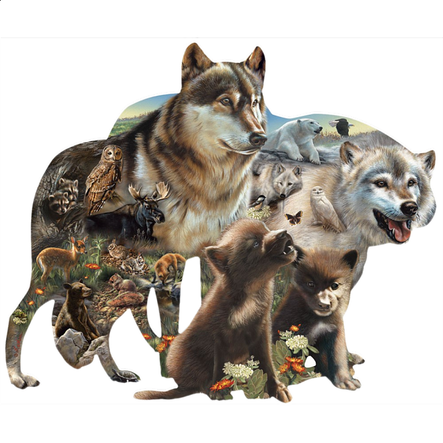 wolf-pack-shaped-jigsaw-puzzle