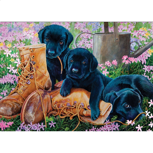 Black Lab Puppies - Tray Puzzle