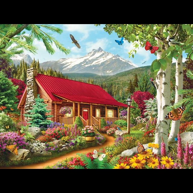 Memory Lane - Mountain Hideaway - EZ Grip Large Piece Puzzle
