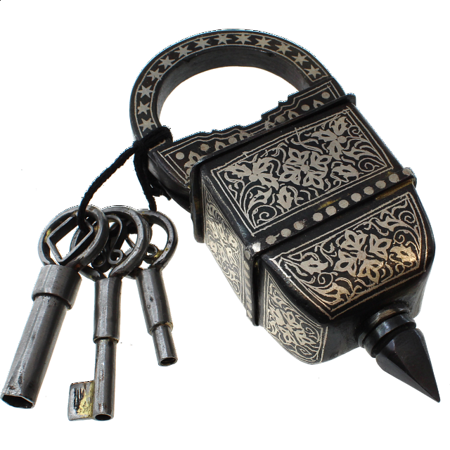 3 Key Puzzle Lock - With Silver Design - from $139.99