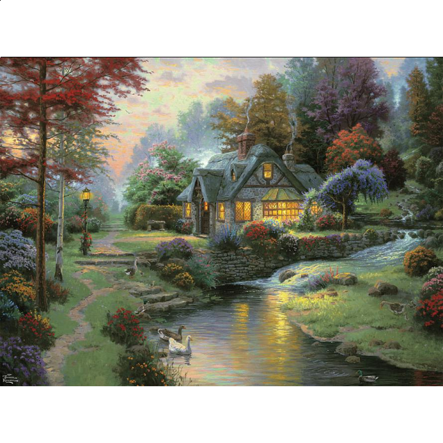 Thomas Kinkade - Stillwater Cottage