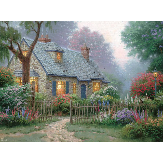 Thomas Kinkade: Foxglove Cottage