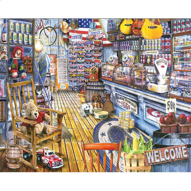 White Mountain Puzzles Jackson General Store Jigsaw Puzzle