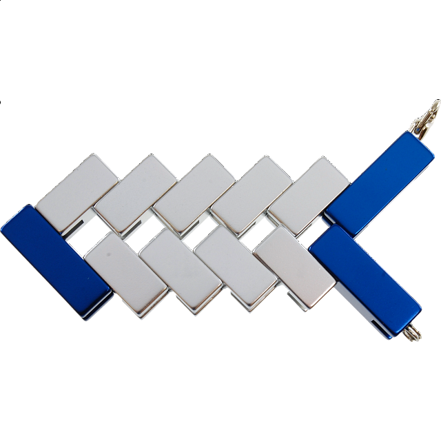 Mini Line Cube - Blue - from $9.99