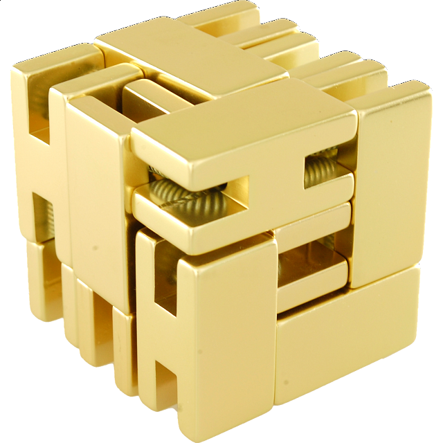 Line Cube - Gold - from $24.99