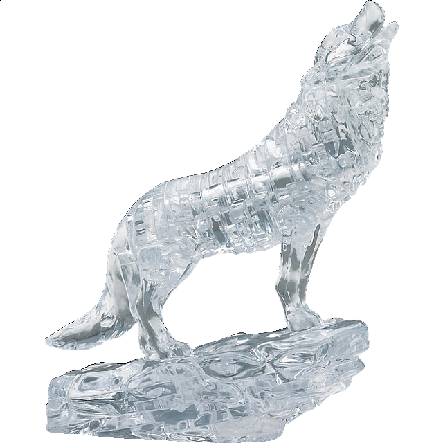Crystal | Puzzle | Wolf | 3D