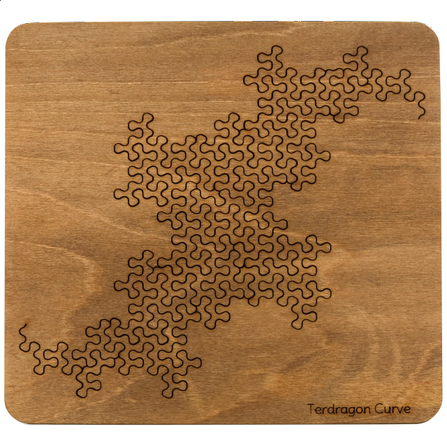 Wooden Fractal Tray Puzzle Terdragon Curve Designers Puzzle