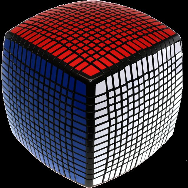 15x15x15 Pillow-shaped Cube - Black Body