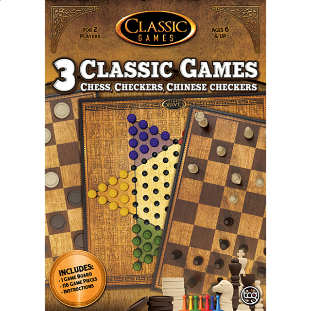 3 in 1 Classic Games: Chess, Checkers, Chinese Checkers