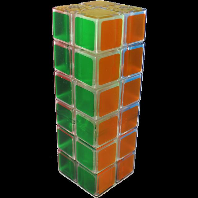 1688Cube 2x2x6 II Cuboid (center-shifted) - Ice Clear Body