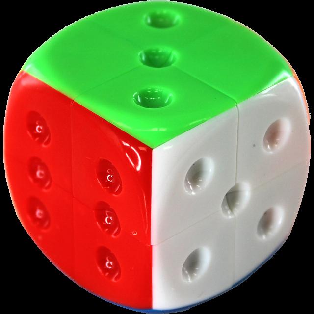 2x2x2 Dice Cube - Stickerless
