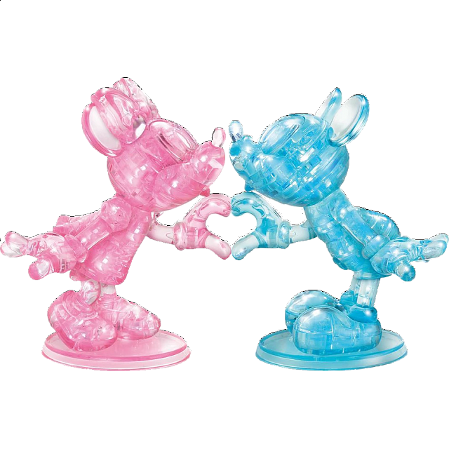 3D Crystal Puzzle Deluxe - Minnie & Mickey Heart - from $32.99