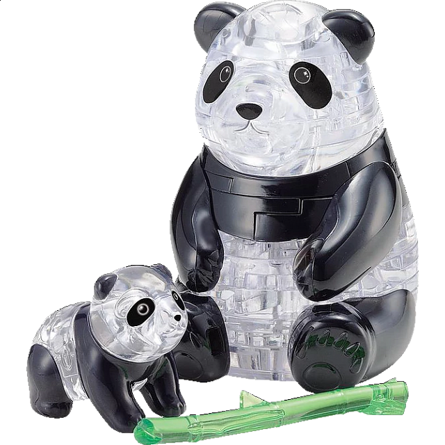 3D Crystal Puzzle - Panda & Baby - from $17.99