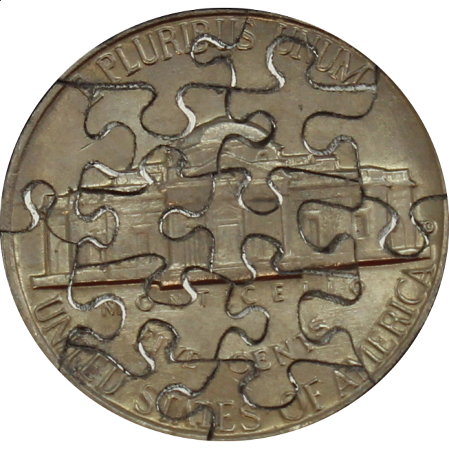 Jigsaw | Puzzle | Nickel | Piece | Coin